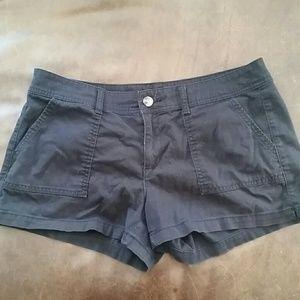 Corduroy black shorts